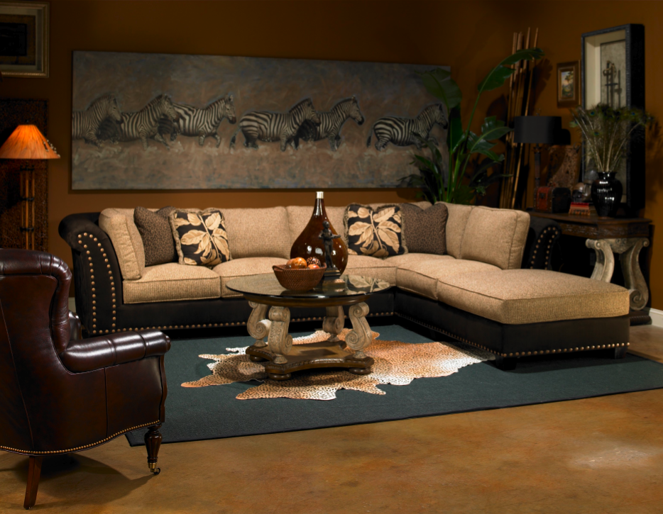 African Inspiration: Create a warm, inviting living room with bold ...