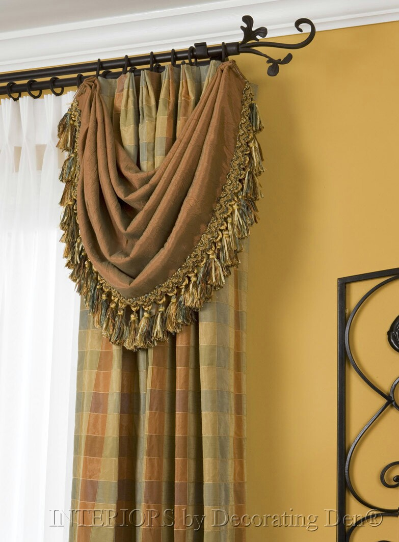 Drapery Details Create A Custom Look With Variations To
