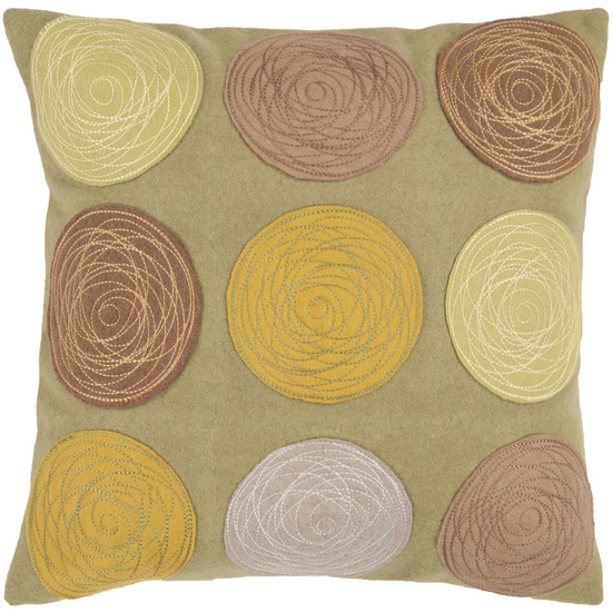 Toss Pillow with Rosettes