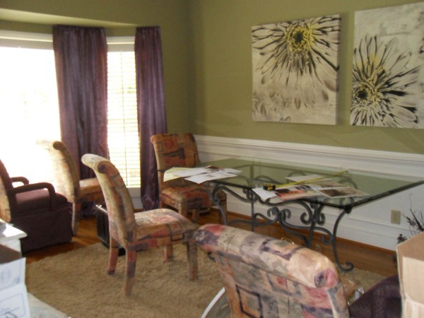 green dining room makeover