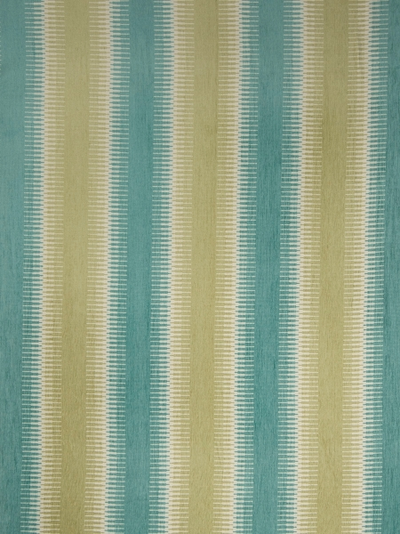 blue and green striped fabric