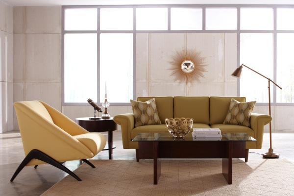 modern mid-century living room decor