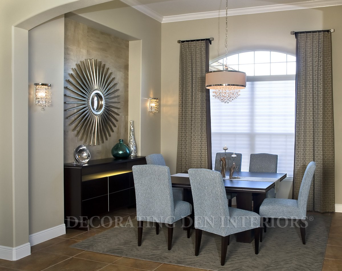 Luxurious look indulge with contemporary dining room for Dining room wall design