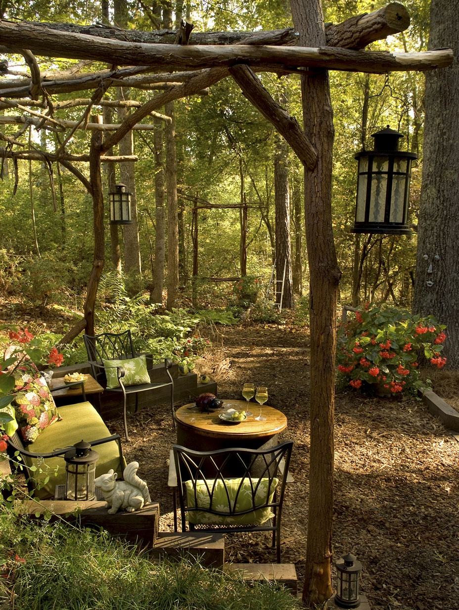 Backyard transformation from wild woods to garden dream for Dream backyard designs