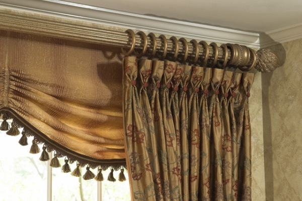 Custom Window Treatments with Goblet Pleat