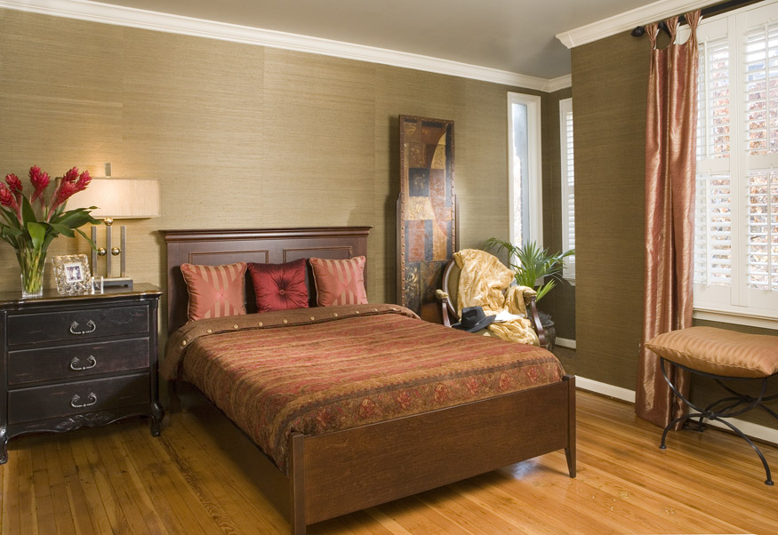 Enjoy the benefits of custom bedding for bedroom interior for Red and gold bedroom designs