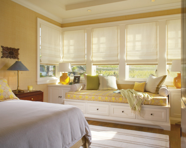 master bedroom window seat decor