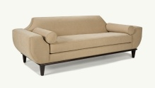 Taupe Sofa with Bolster Pillow
