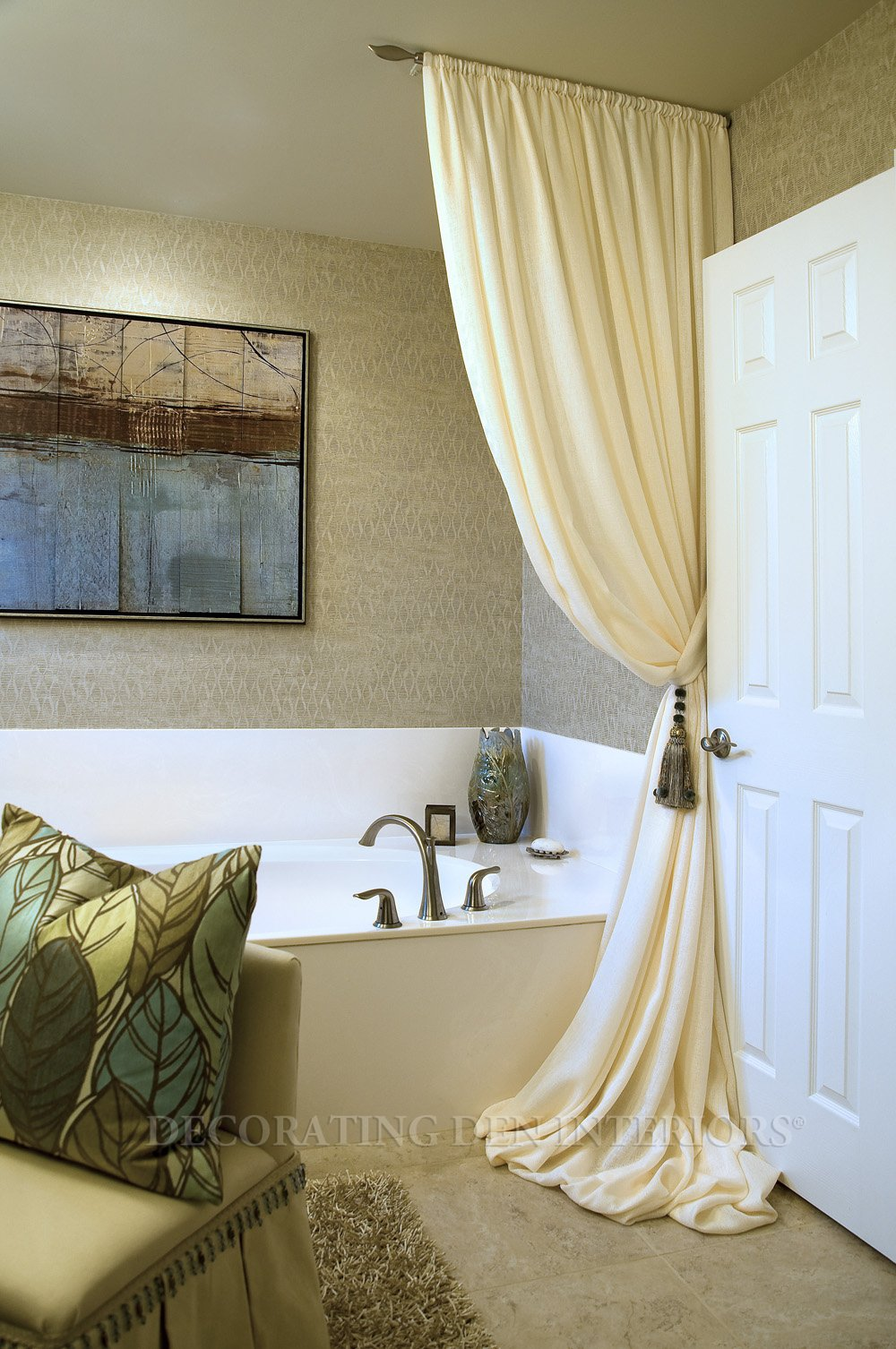 Bathroom Curtain Ideas. Find This Pin And More On Curtains. House ...