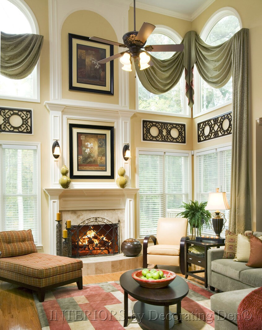 Img 3 456 5 184 pixels two story drapery ideas for Living room window treatments